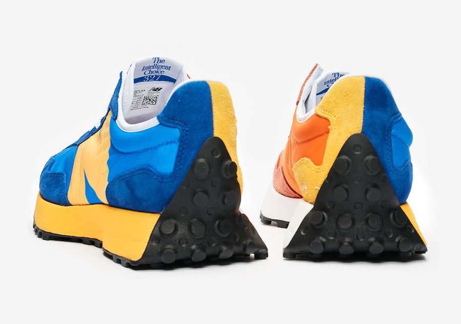 New Balance 327 Blue Orange Yellow Release Date Info