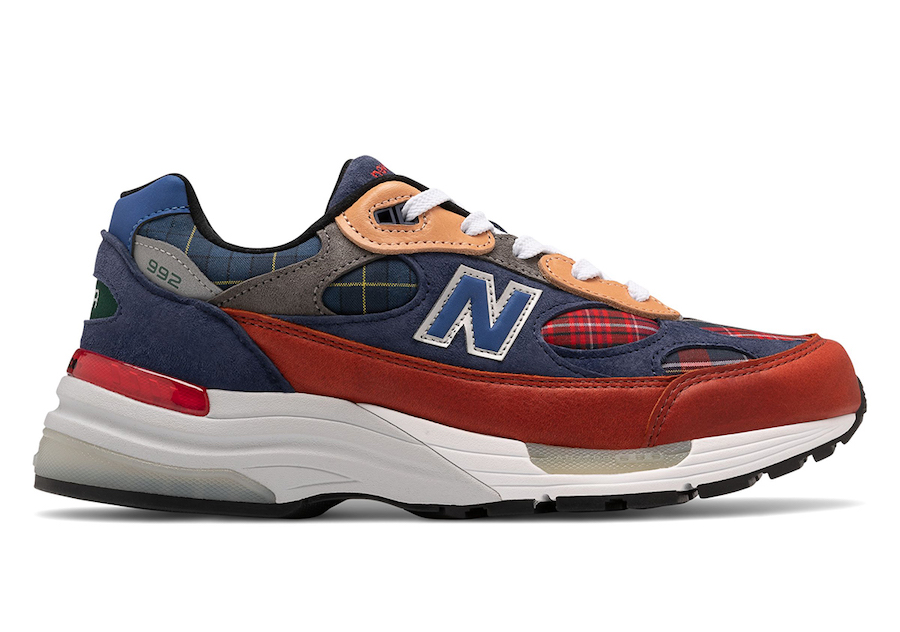 New Balance 992 Plaid Patchwork Release Date Info