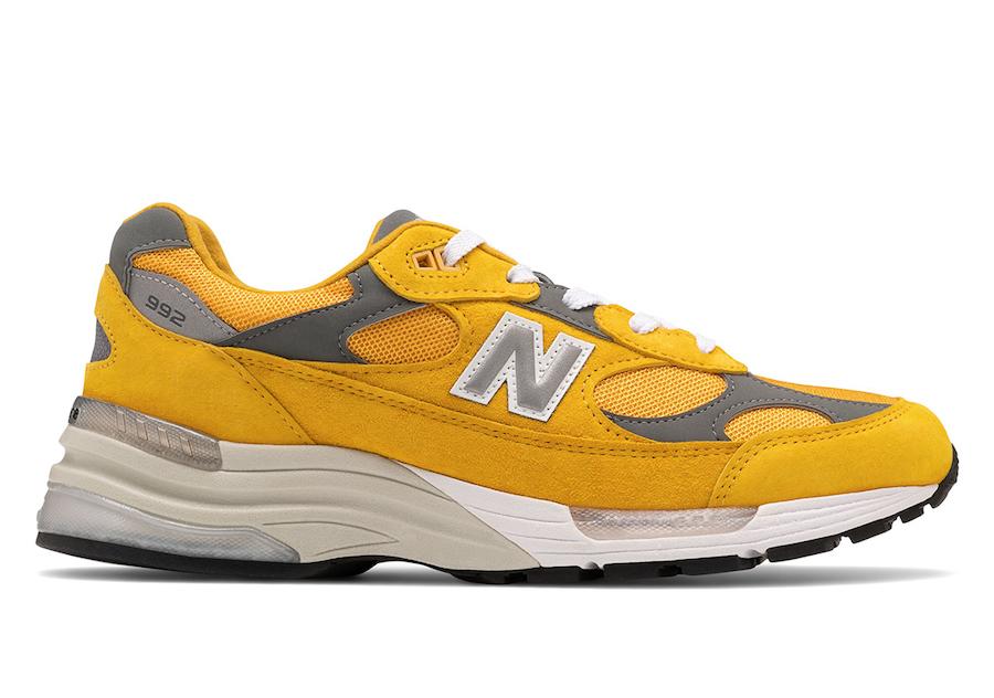 New Balance 992 Yellow Gold Cream Release Date Info