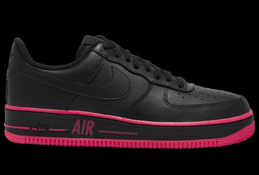 Nike Air Force 1 Low Black Laser Crimson CJ1393-002 Release Date Info
