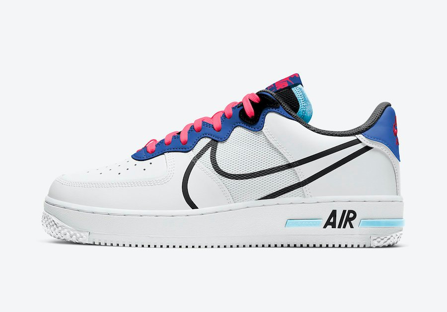 Nike Air Force 1 React Astronomy Blue Laser Crimson CT1020-102 Release Date Info