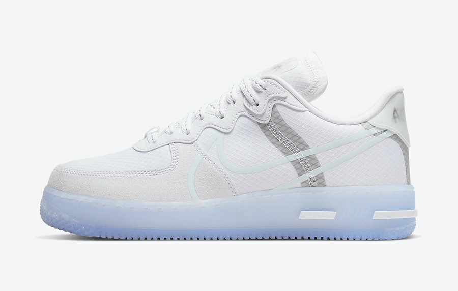 Nike Air Force 1 React White Ice CQ8879-100 Release Date Info