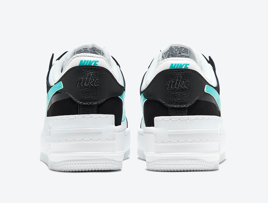 Nike Air Force 1 Shadow Black Teal CZ7929-100 Release Date Info