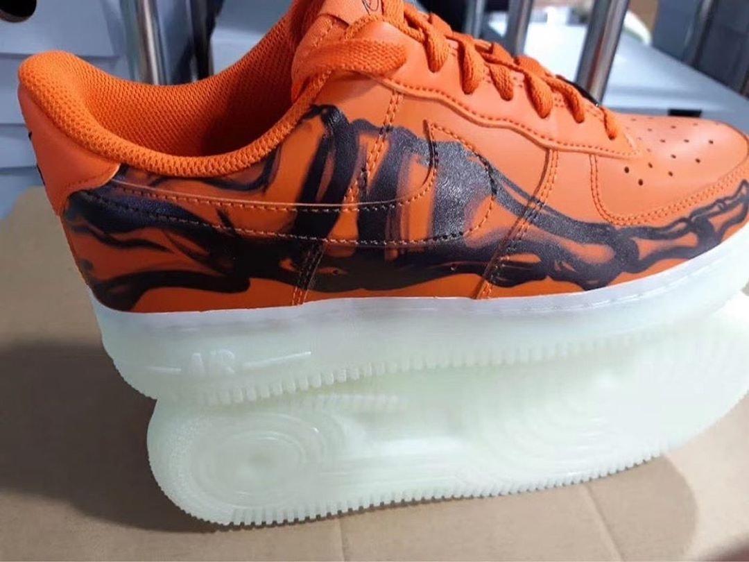 Nike Air Force 1 Skeleton Brilliant Orange CU8067-800 Release Date