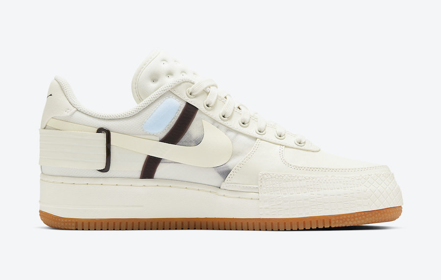 Nike Air Force 1 Type Sail Earth Brown CJ1281-100 Release Date Info
