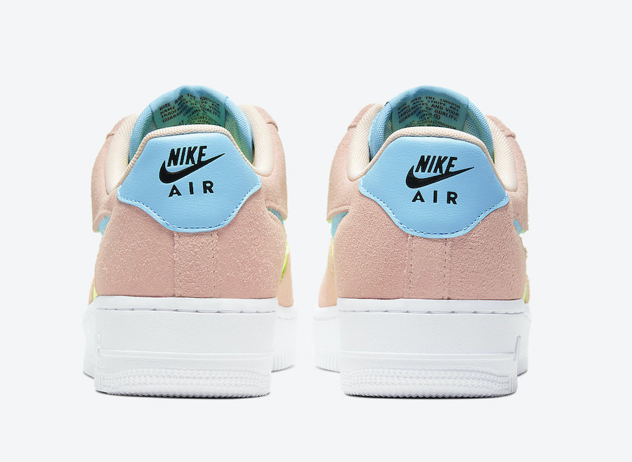 Nike Air Force 1 WMNS Washed Coral Ghost Green CJ1647-600 Release Date Info