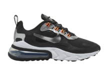 Nike Air Max 270 React Black Silver Orange CT1834-001