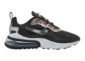 Nike Air Max 270 React Black Silver Orange CT1834-001