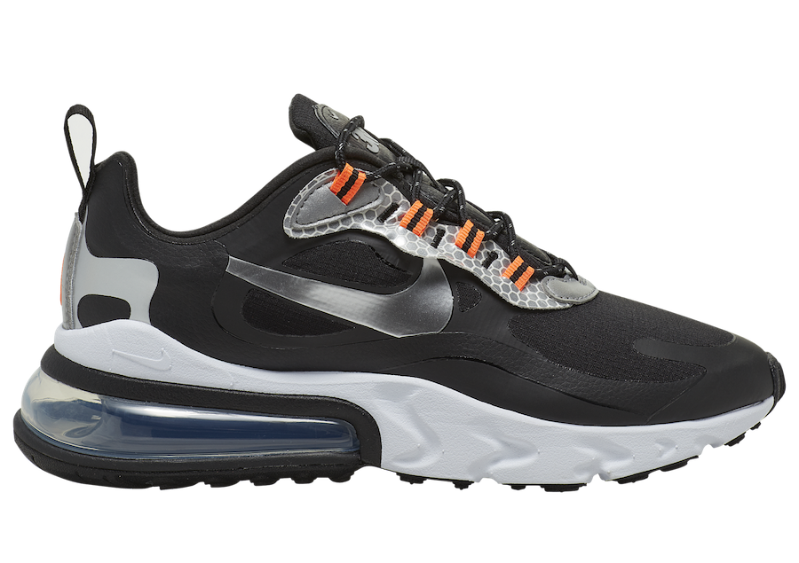 Nike Air Max 270 React Black Silver Orange CT1834-001 Release Date Info