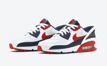Nike Air Max 90 FlyEase White Obsidian University Red CU0814-104 Release Date Info