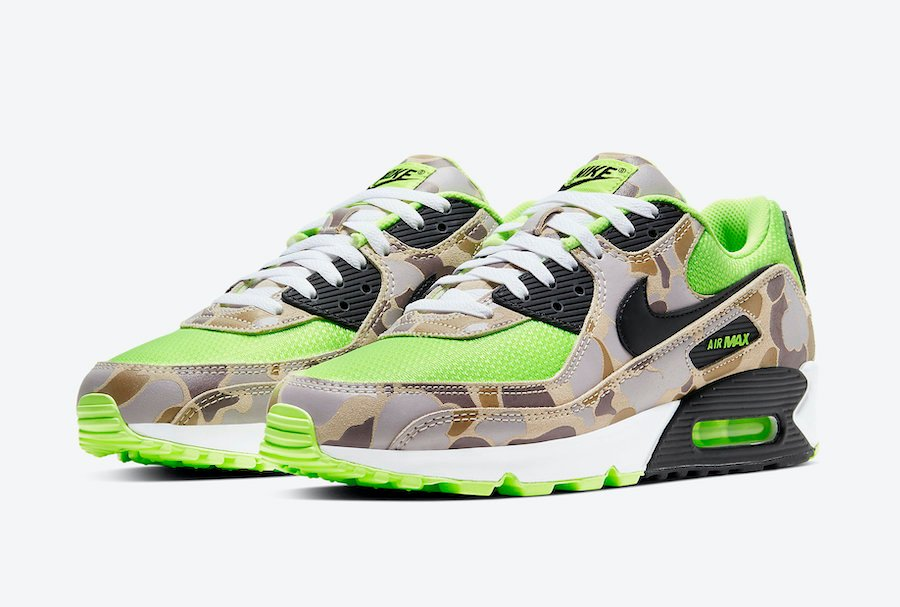 Nike Air Max 90 Ghost Green Volt Duck Camo CW4039-300 Release Date Info