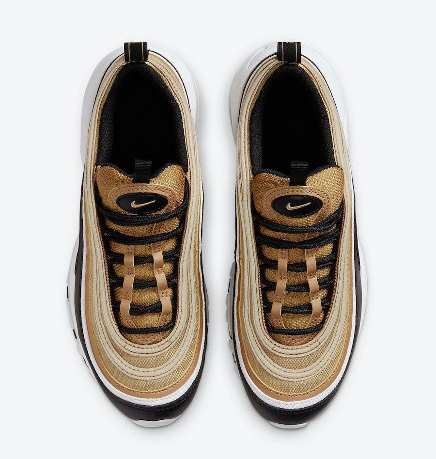 Nike Air Max 97 GS Gold Black White CZ9197-700 Release Date Info
