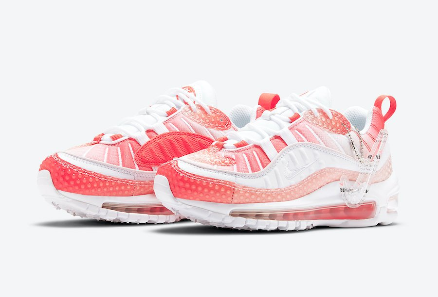 Nike Air Max 98 Bubble Track Red Barely Rose CI7379-600 Release Date Info
