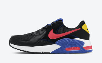 Nike Air Max Excee Black Blue Pink Yellow CD4165-008 Release Date Info