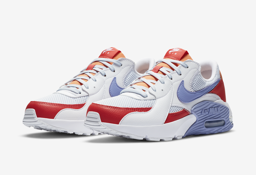 Nike Air Max Excee White Light Blue Red Orange CZ9314-100 Release Date Info