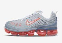 Nike Air VaporMax 360 Sky Grey Flash Crimson CK9671-002 Release Date Info