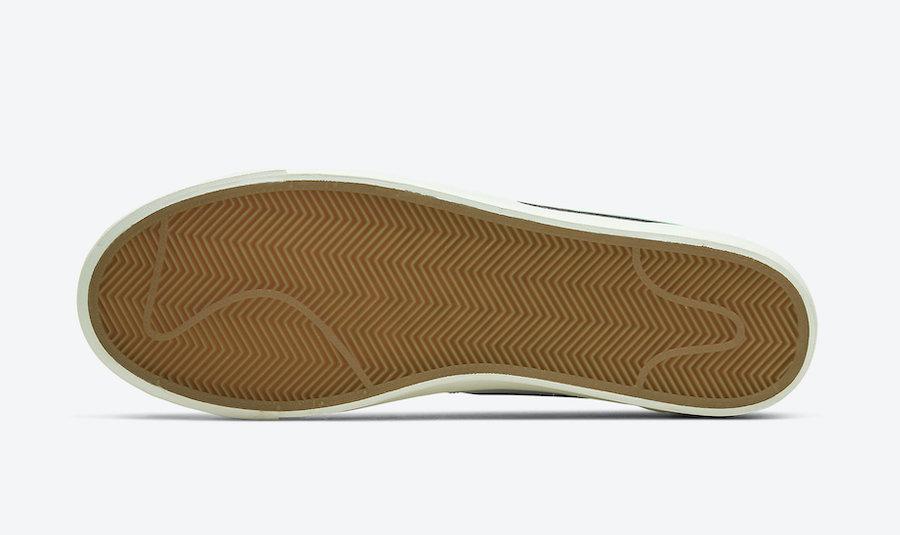 Nike Blazer Low Leather Forest Green CI6377-108 Release Date Info