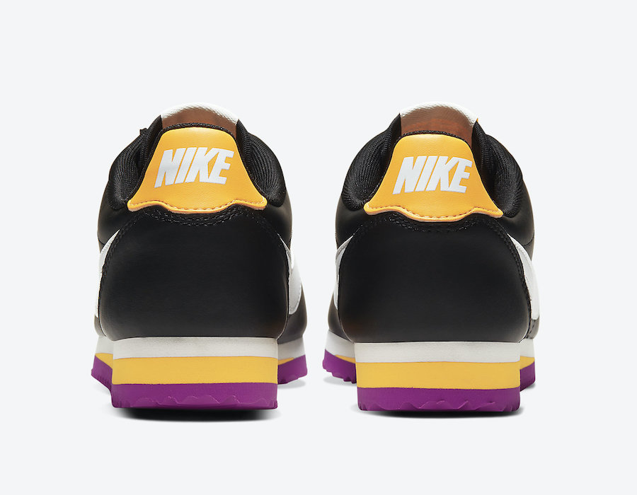 Nike Cortez Black Laser Orange Vivid Purple 807471-022 Release Date Info