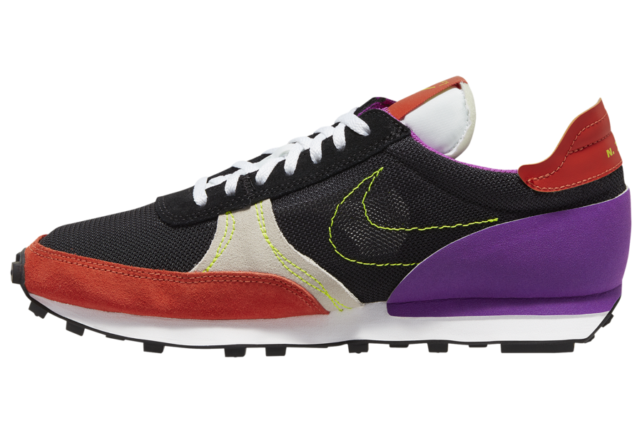 Nike Daybreak Type Black Orange Volt Purple CJ1156-002 Release Date Info
