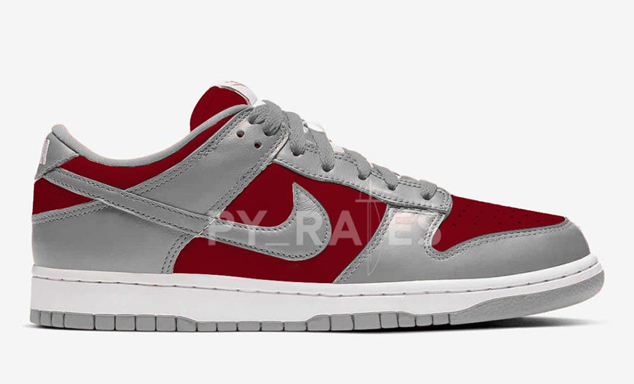 Nike Dunk Low Grey Varsity Red 2021 Release Date Info