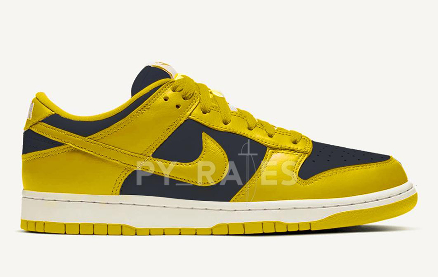 Nike Dunk Low Varsity Maize Midnight Navy 2021 Release Date Info