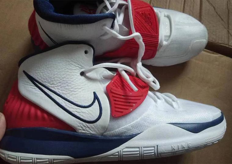 Nike Kyrie 6 USA White Navy Red