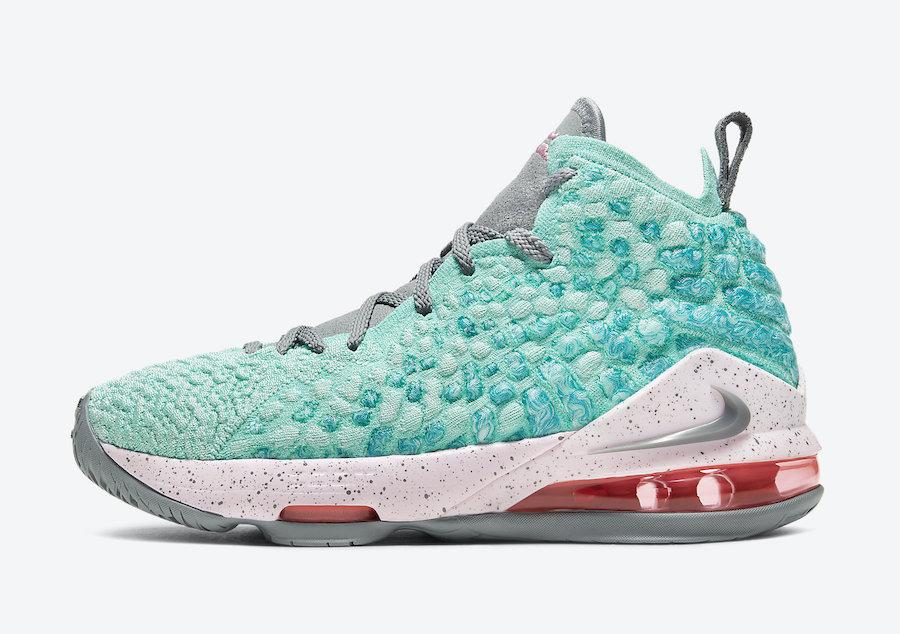 Nike LeBron 17 GS South Beach BQ5594-444 Release Date