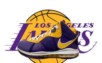 Nike LeBron 8 Lakers DC8380-500 Leak