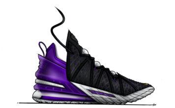 Nike LeBron 18 Sketch Black Purple