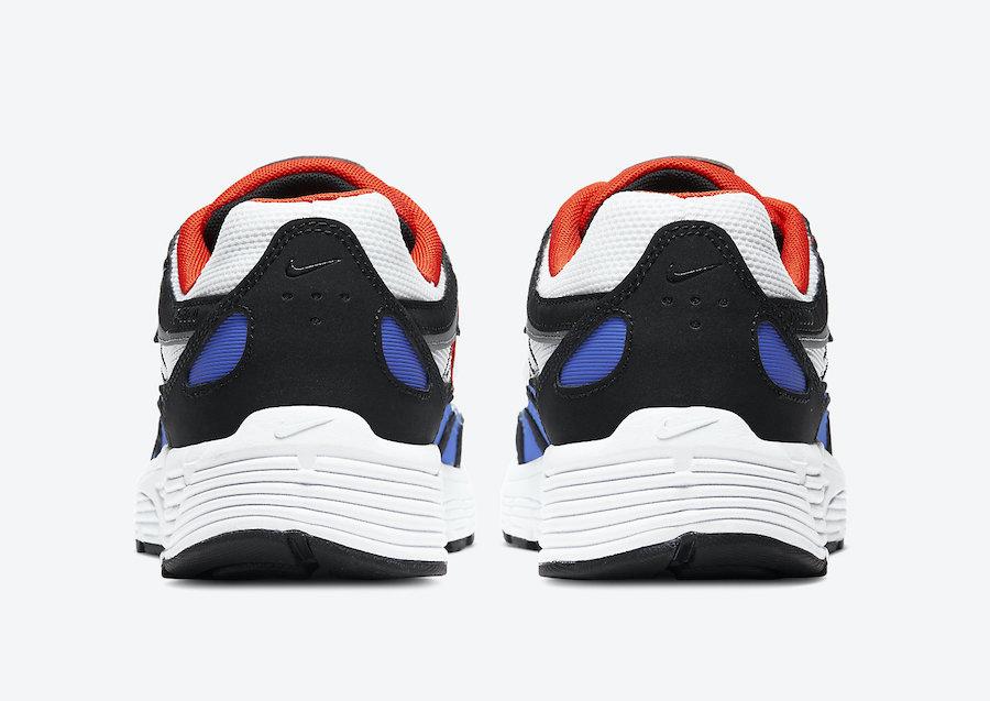 Nike P-6000 Black White Team Orange Racer Blue CD6404-008 Release Date Info