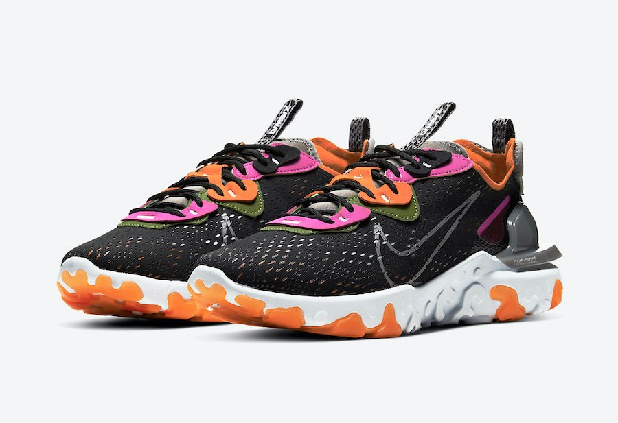 Nike React Vision Black Fuchsia Orange CD4373-003 Release Date Info