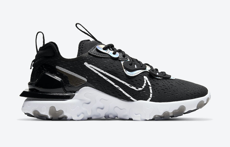 Nike React Vision Essential Black Iridescent CW0730-001 Release Date Info