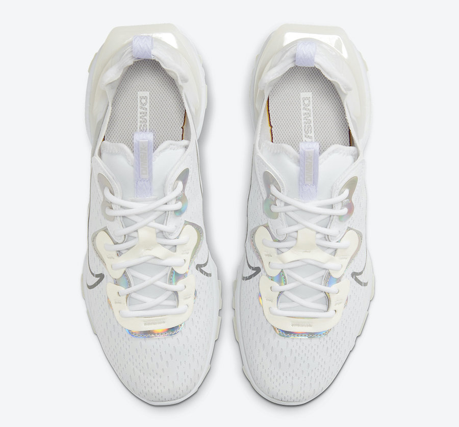 Nike React Vision Essential White Iridescent CW0730-100 Release Date Info