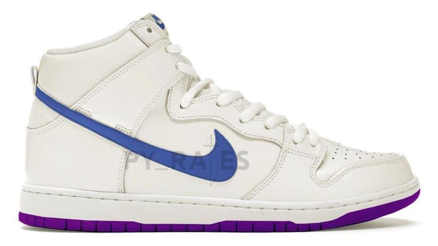 Notre Nike Dunk High Pearl White Blue Void Grand Purple Release Date Info