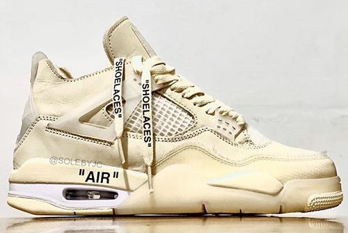 Off-White Air Jordan 4 Sail Release Date