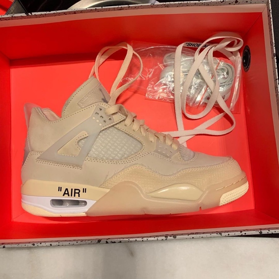 Off-White Air Jordan 4 Womens Sail CV9388-100 Release Date
