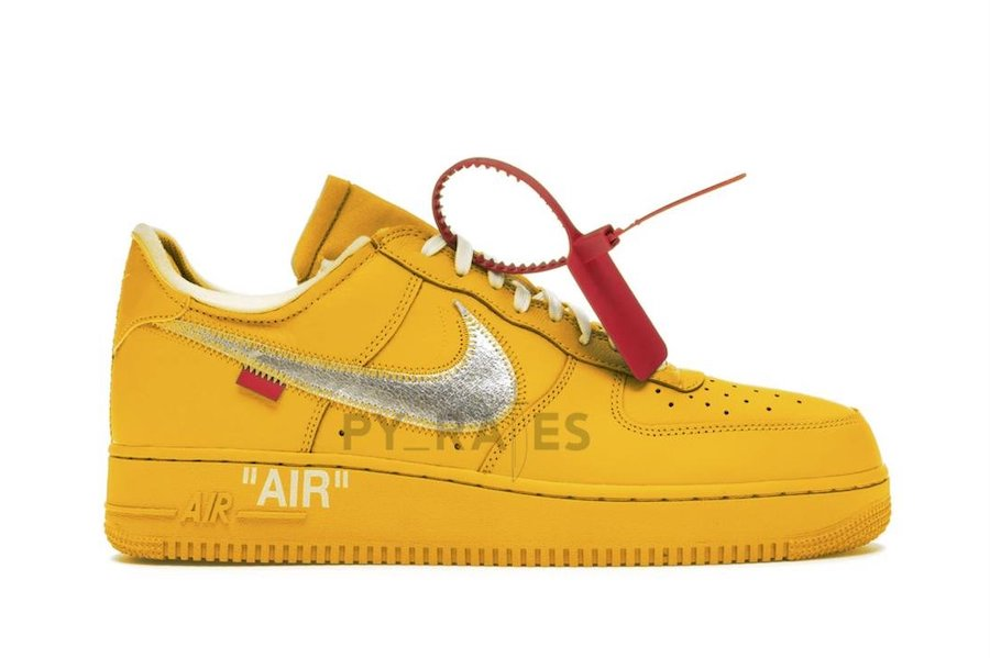 Off-White Nike Air Force 1 University Gold Release Date Info