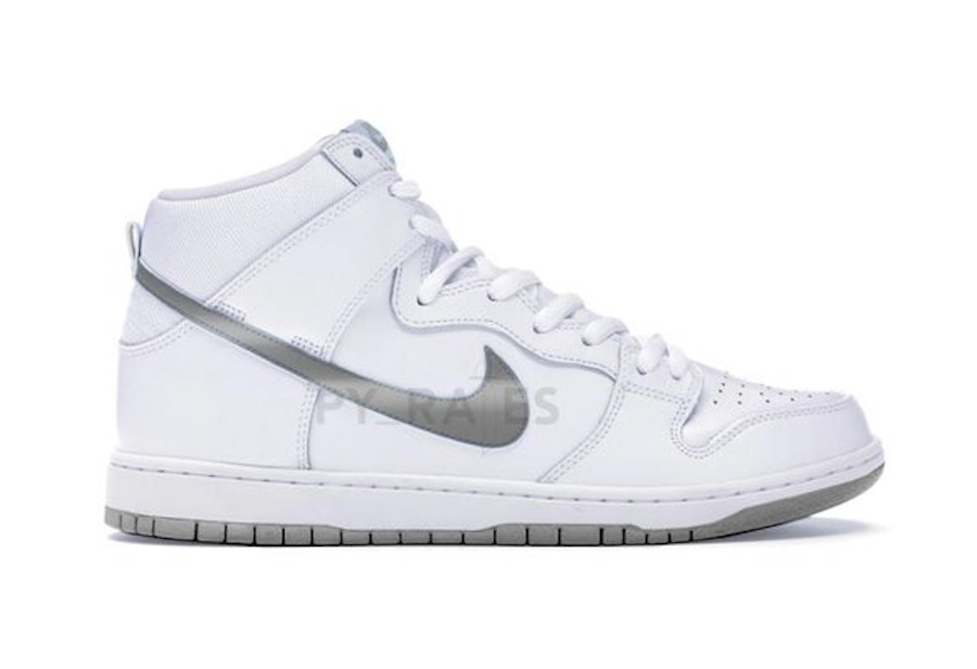 Slam Jam Nike Dunk High White Clear Pure Platinum Release Date Info
