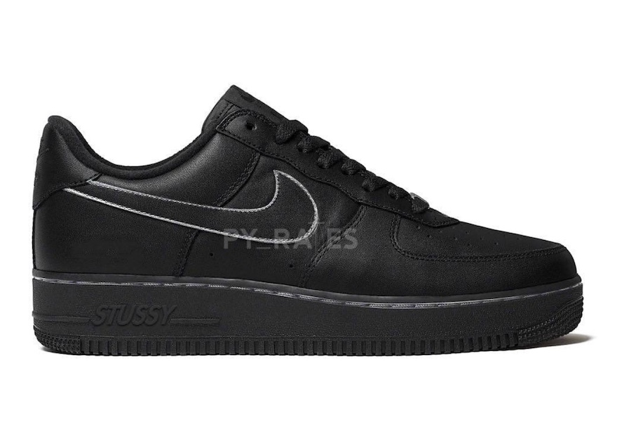 Stussy Nike Air Force 1 Low Black Release Date Info