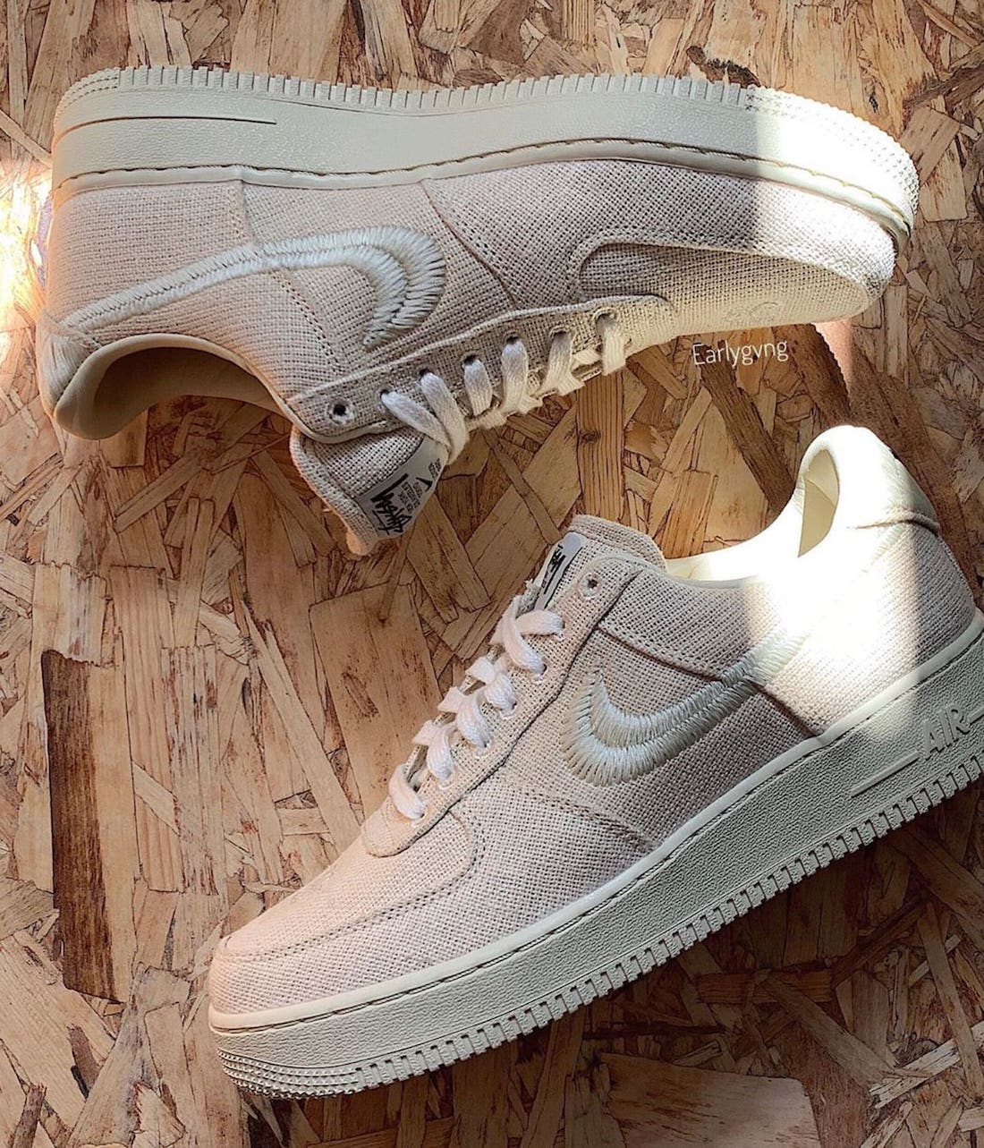 Stussy Nike Air Force 1 Low Fossil Stone CZ9084-200 Release Date