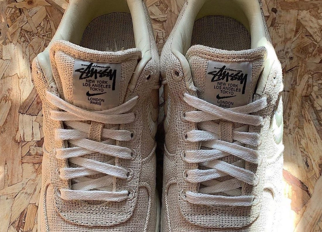 Stussy Nike Air Force 1 Low Fossil Stone