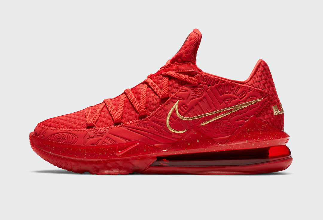 Titan Nike LeBron 17 Low Red CD5008-600 Release Date