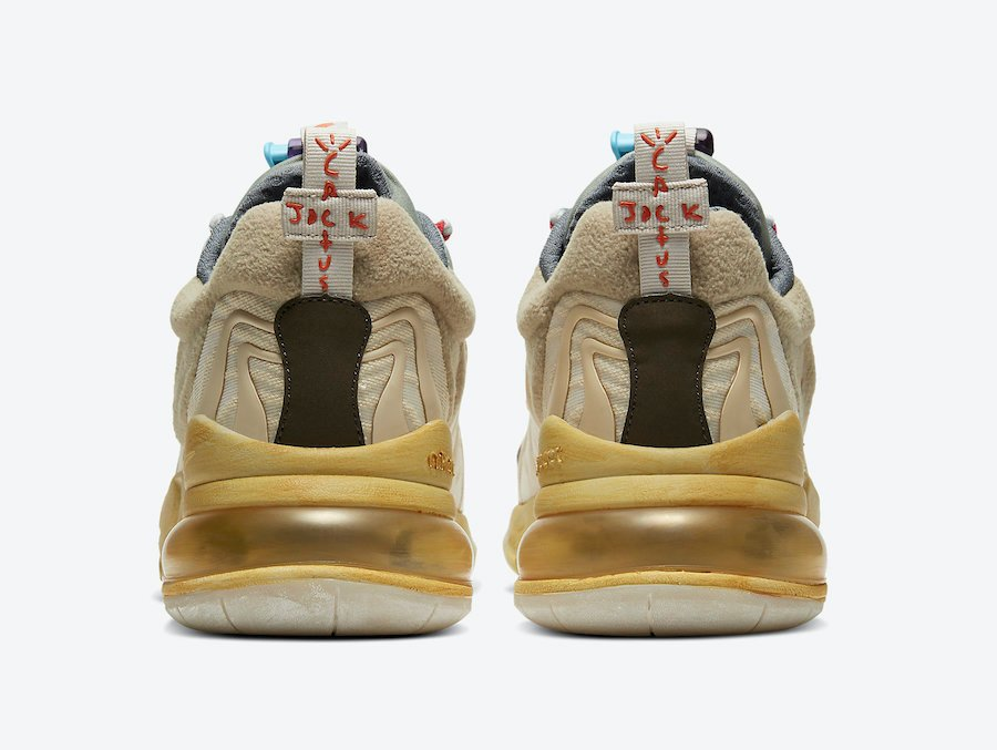 Travis Scott Nike Air Max 270 React Cactus Trails CT2864-200 Where to Buy