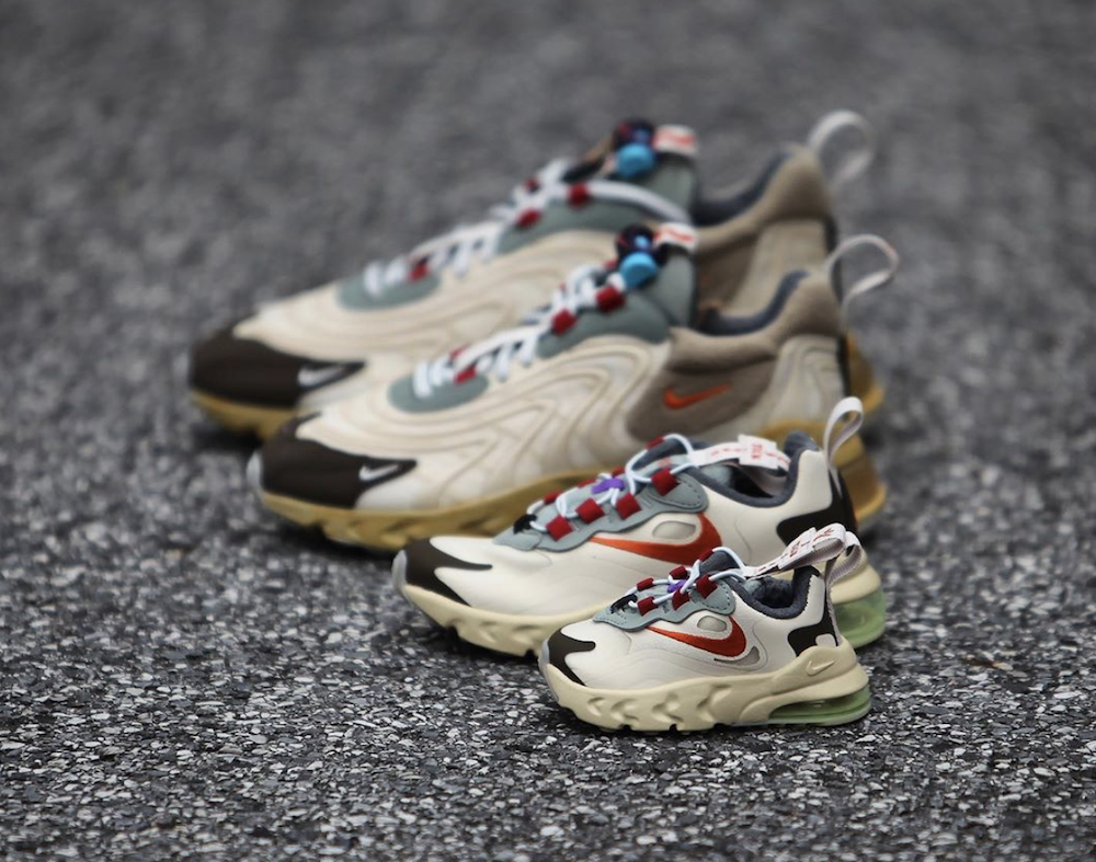 Travis Scott Nike Air Max 270 React Cactus Trails Family Sizing