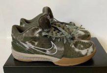 Undefeated Nike Kobe 4 Protro Olive Tie-Dye