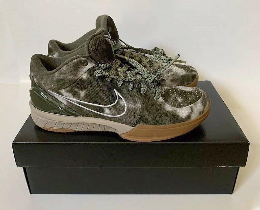 Undefeated Nike Kobe 4 Protro Olive Tie-Dye Release Date Info