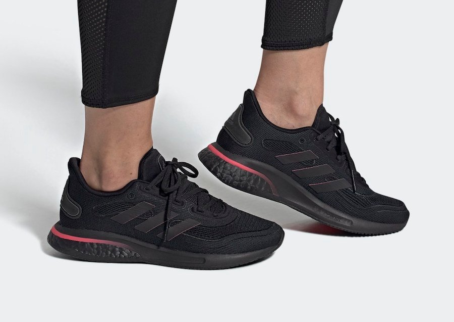 adidas Supernova Core Black Signal Pink FW8822 Release Date Info