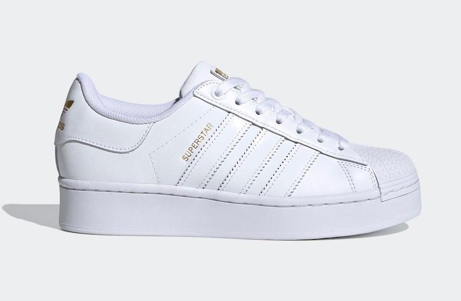 adidas Superstar Bold White Gold FV3334