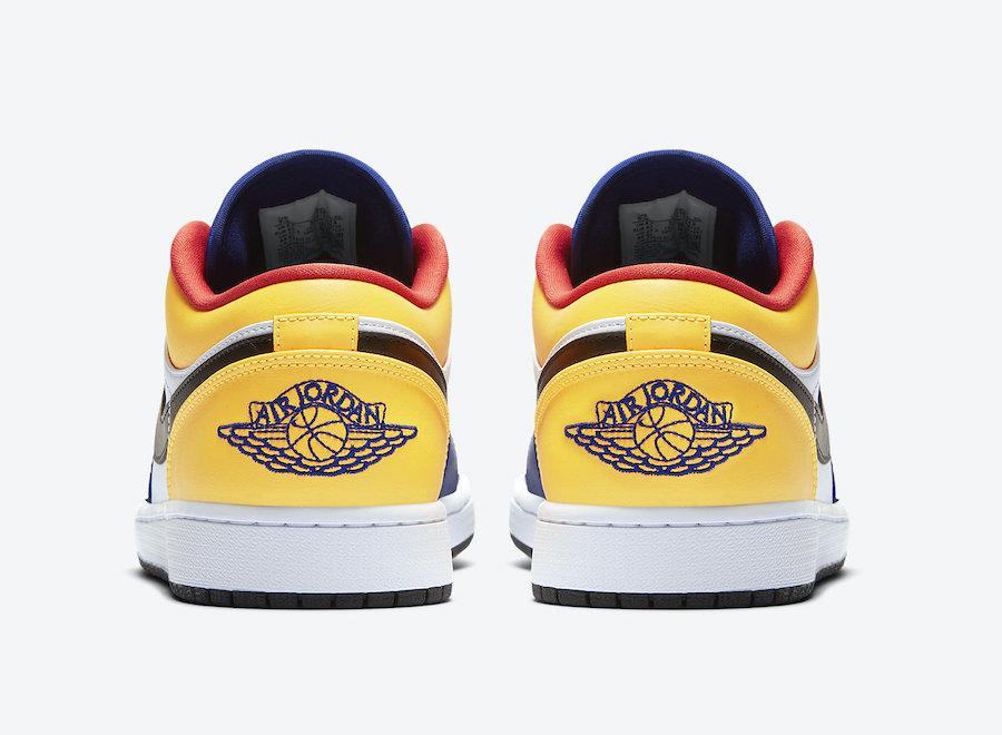 Air Jordan 1 Low Blue Yellow Orange 553558-123 Release Date Info