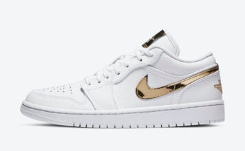 Air Jordan 1 Low White Metallic Gold CZ4776-100 Release Date Info